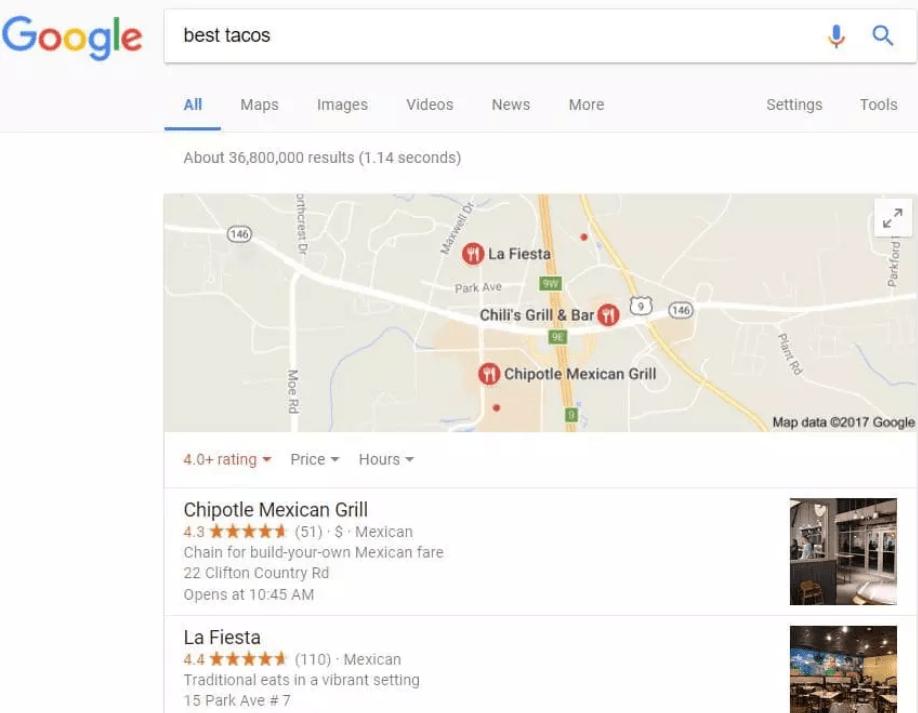 mise a jour google pigeon