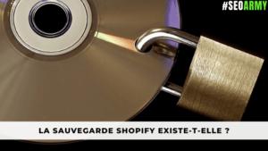 sauvegarde Shopify