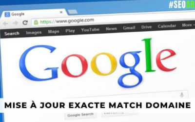 mise à jour correspondance exacte de domaines de Google